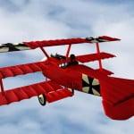 3D Flugzeug Fokker DR1